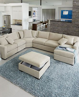 Radley Fabric Sectional Sofa Collection, Created for Macy\'s