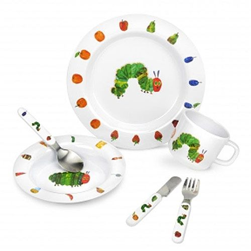 The Very Hungry Caterpillar 6 Piece Melamine Breakfast Set from Portmeirion is beautifully decorated with images  sc 1 st  Pinterest & The Very Hungry Caterpillar 6 Piece Melamine Breakfast Set from ...