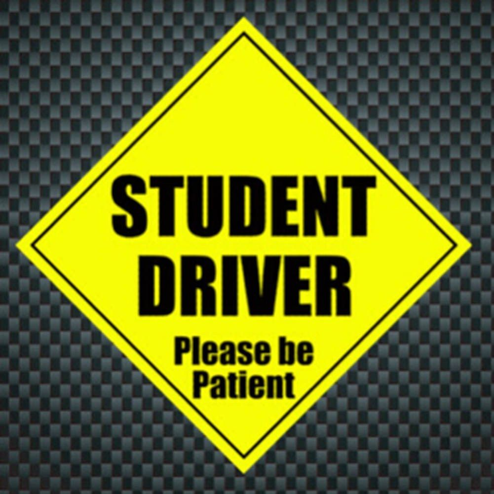 Student Driver Please Be Patient Reflective Decal Funny Bumper Stickers Magnetic Vehicle Car Stickers Shop The Nation Funny Bumper Stickers Student Driver Reflective Decals [ 1001 x 1001 Pixel ]