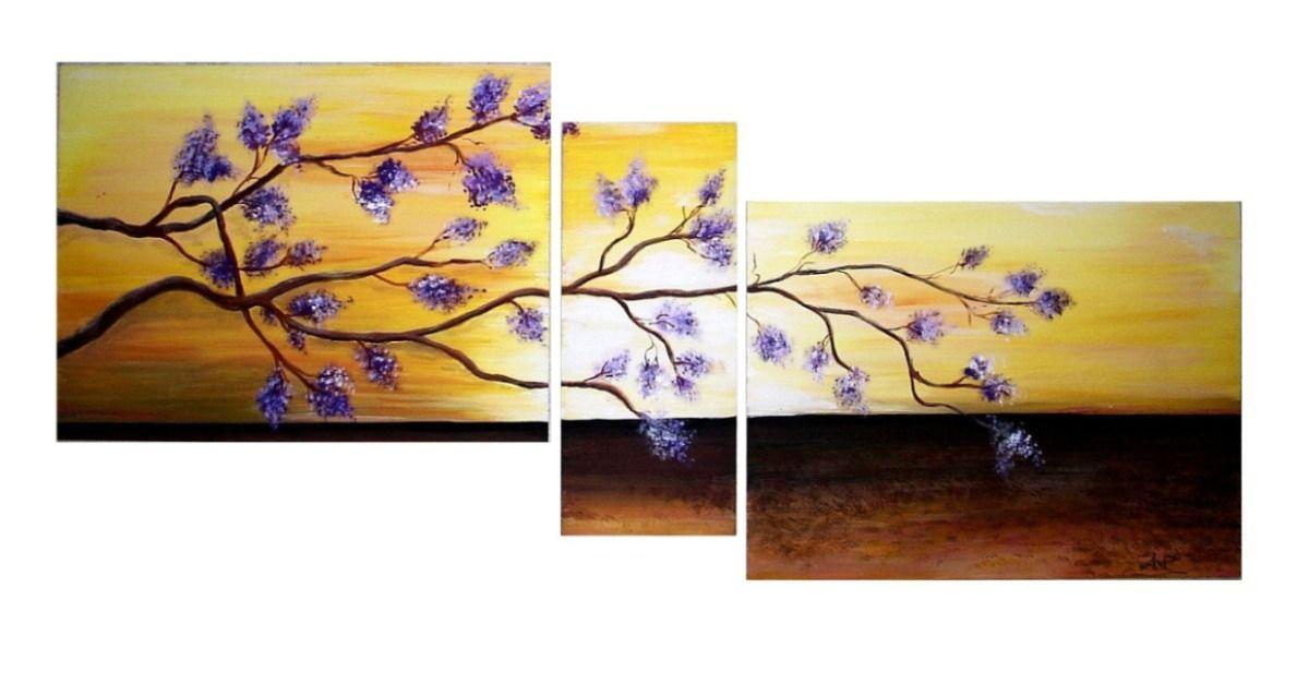 Cuadros modernos flores bastidor tripticos diptico for Cuadros en bastidor