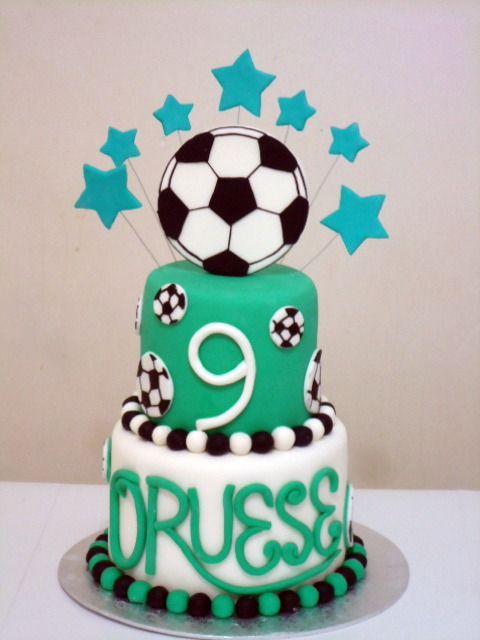 soccer ball cake for my Chickie Pinterest Soccer ball cake