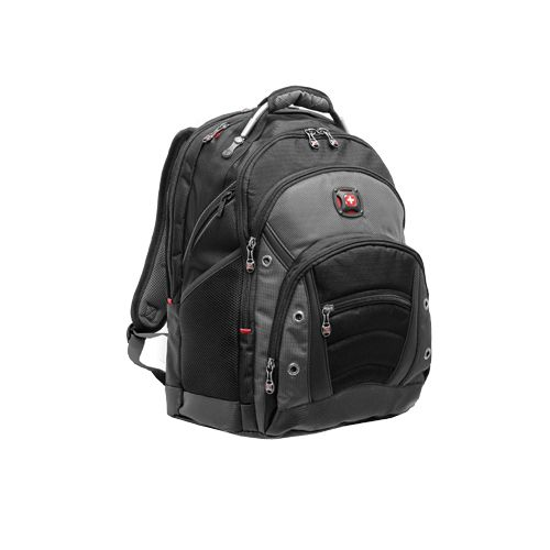 Swiss Gear Synergy Computer Backpack This backpack is chocked full of pockets and ready to carry all of your electronics. #Technology #SwissGear #Backpack #Fashion #Bags