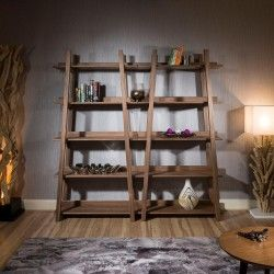 Quatropi Modern Tall Display Cabinet  Shelving  Bookcase Walnut Magnificent Modern Dining Room Display Cabinets Decorating Design