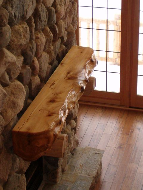Log Or Timber Mantel From Kiln Dried Northern White Cedar !