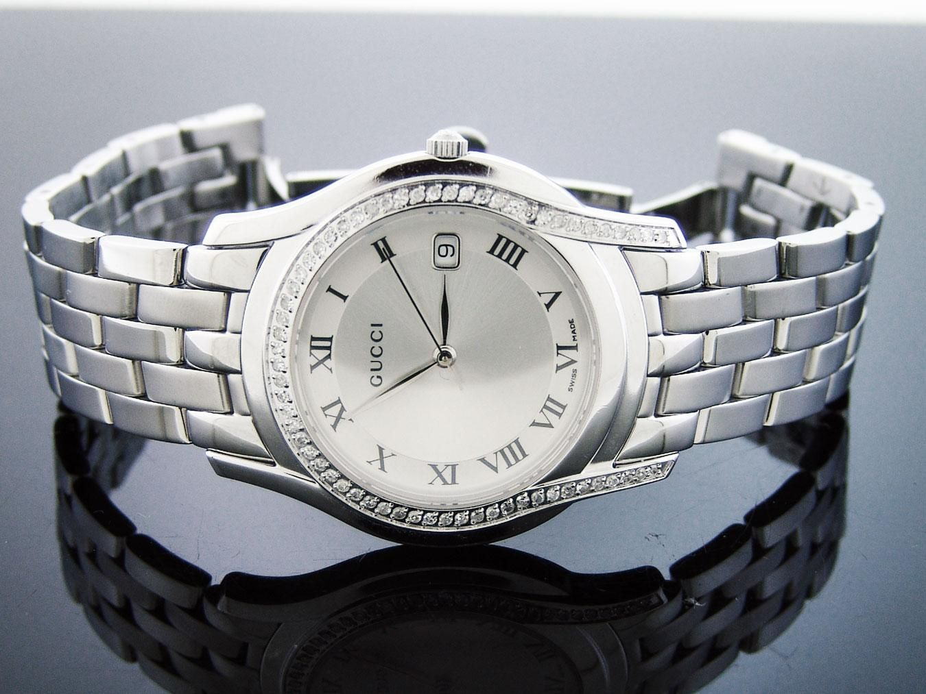 5e8c3fc2fbd Gucci swiss made 126.4 quartz stainless steel watchwhite dial Brand new  with box (no original