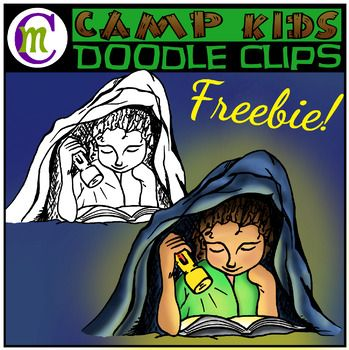 Camp Kids Clipart FREEBIE