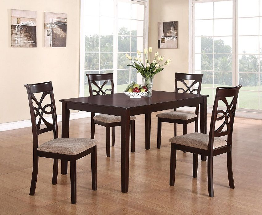 Cara Collection 150441 Transitional Dining Table Set Amazing Dark Cherry Dining Room Set Inspiration Design