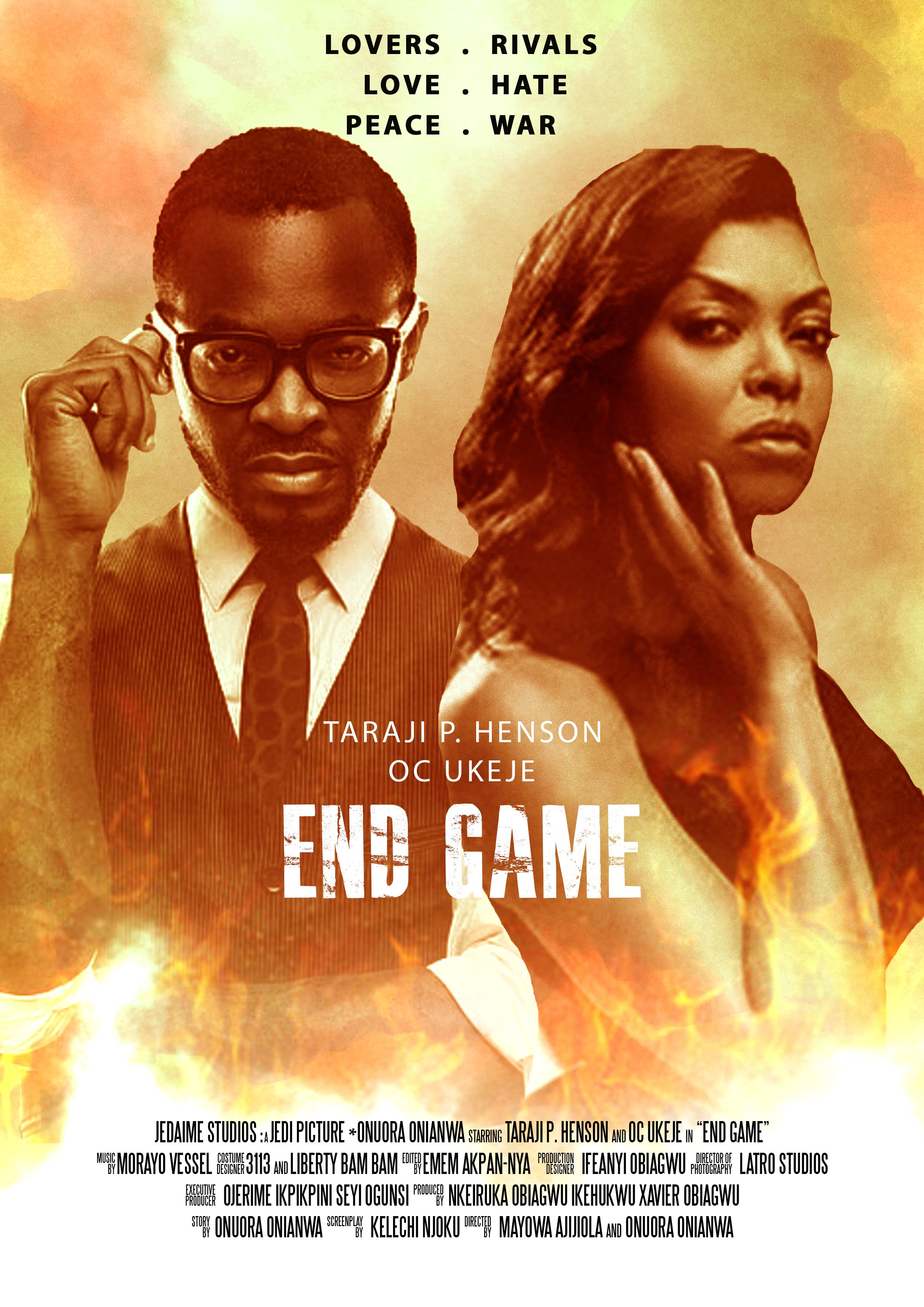 End Game End Game Stars Oc Ukeje And Taraji P Henson Synopsis Two Reporters Have A Secret Steamy Love Affair And All Seems Well Until A Story Comes A