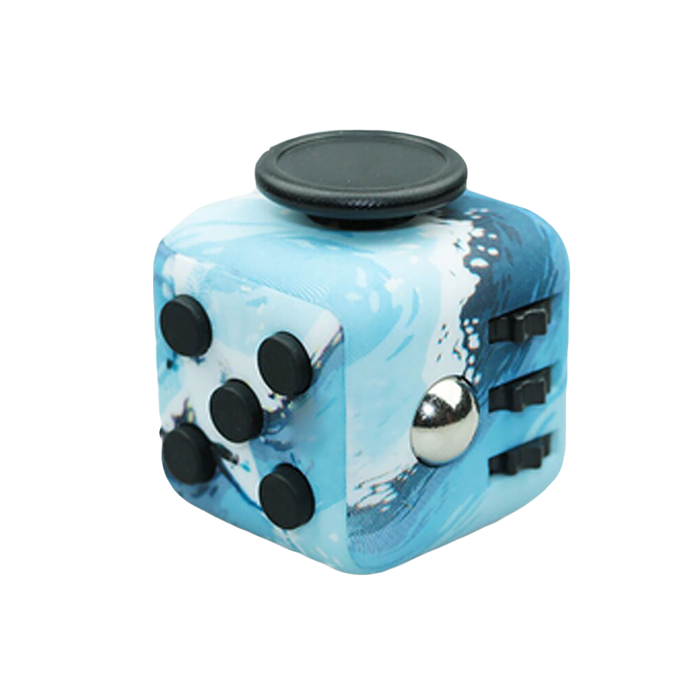 Fidget Toy Cube Stress Anxiety Relief Desk Toy EDC 6 Sided For Adults Kids Focus
