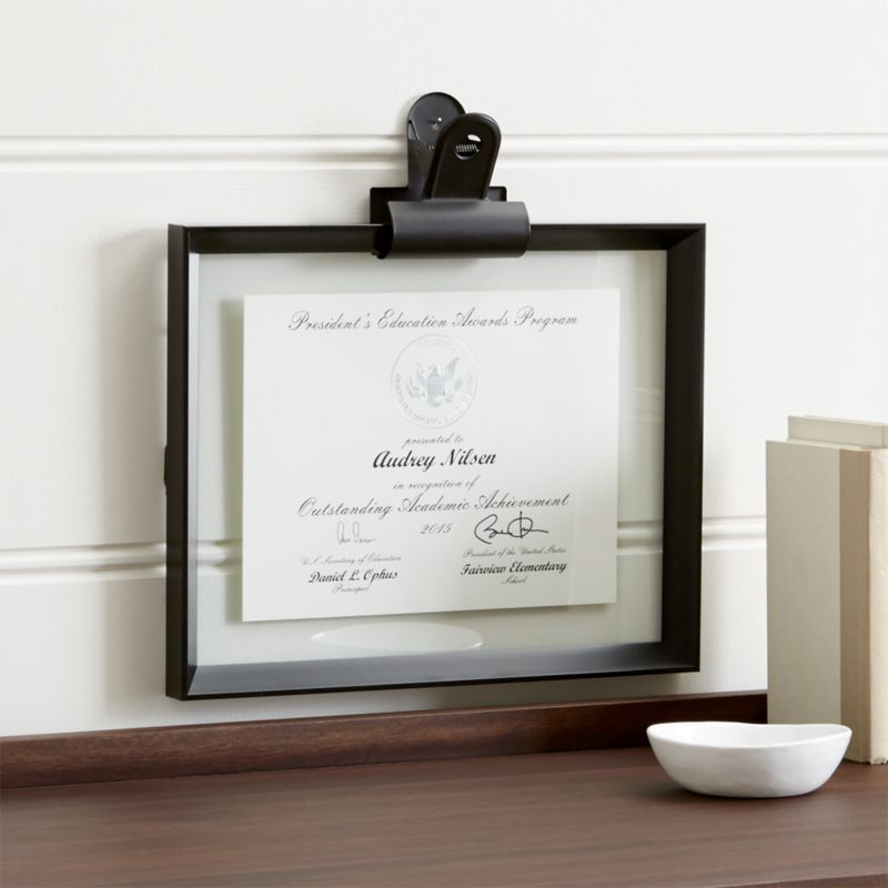 Shop Stage 11x14 Document Frame And Frame Clip 11x14 Frame Floats Images Or Documents Up To 11 X14 Betw Document Frame Frames On Wall Diploma Display Wall