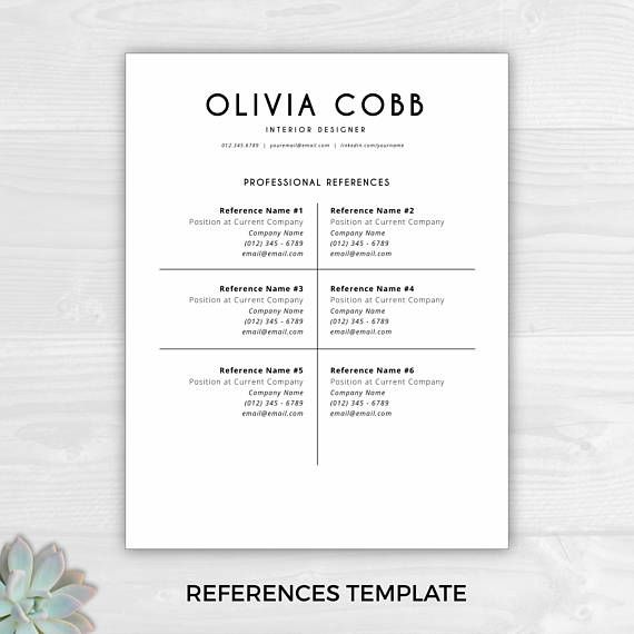 Resume Template Instant Download Cv Template Resume  Useful Info