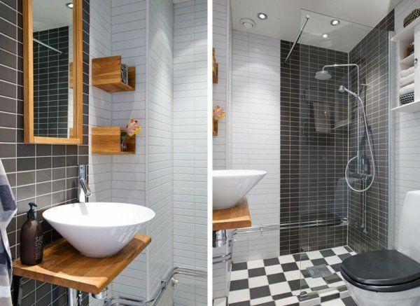 Modernes Apartment Design   Badezimmer Holz Untertisch Waschbecken Weiß