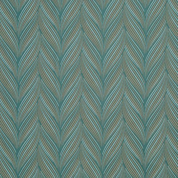 Tissu ameublement Taupe turquoise moderne pour meubles - tissu avec ...