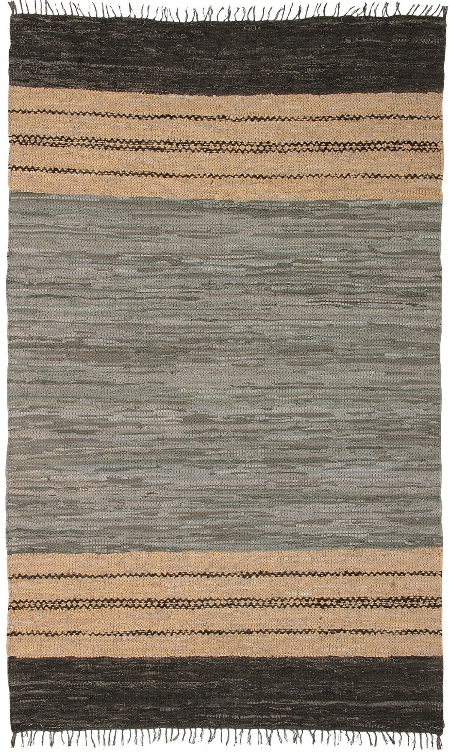 Arearugs Com Leather Ehden Le066 Gray Gray Black Tan Rug Leather Rug Tan Rug Rugs