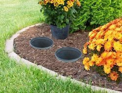 Photo of Flower beds forming with plastic pots – Flower Beds 2020 Flower Beds 2020
