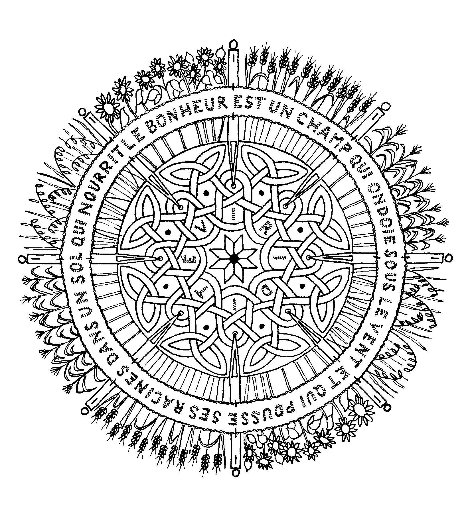 Coloriage mandala adulte 4 tattoo coloriage mandala coloriage zen coloriage - Mandala adulte ...