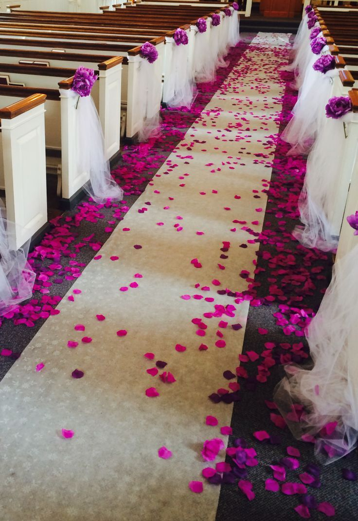 Church decoration for wedding with pink rose petals http church decoration for wedding with pink rose petals httpintimatematrimony junglespirit Images