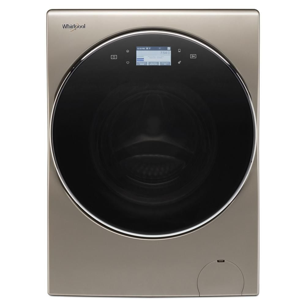 Whirlpool 2 8 Cu Ft Cashmere 240 Volt Ventless Smart All In One Washer Dryer Combo Wfc8090gx The Home Depot Washer Dryer Combo Washer Apartment Washer