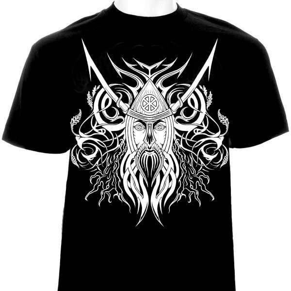 black-metal-t-shirt-design-black-white-red | Metal style clothes ...