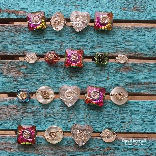 How to Make Wire Wrapped Rings. Perfect for Valentine's Day