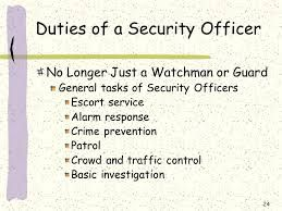 Image Result For Security Guard Duties And Responsibilities Ppt