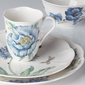 Butterfly Meadow® Blue 4-piece Place Setting