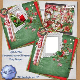 Scrapbook Arte Digital: Christmas Season of Dreams Kit + FREBIES