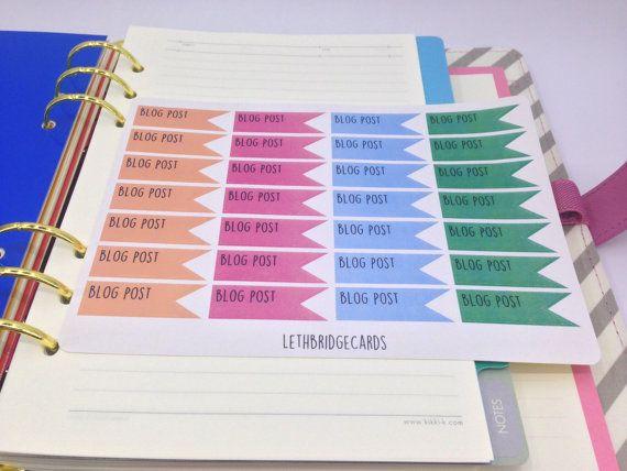 Blog post planner stickers; Pastel Stickers; Filofaxing; Erin Condren; Cute Stickers; Inkwell Press; Plum Paper; Kawaii Stickers