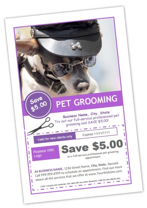 Grooming Coupon Template B  Make It Yourself With This Template