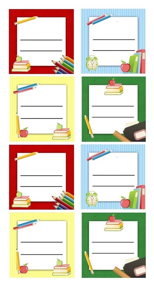 Bien-aimé Etiquettes scolaires à imprimer pour livres et cahiers d'école  DI28