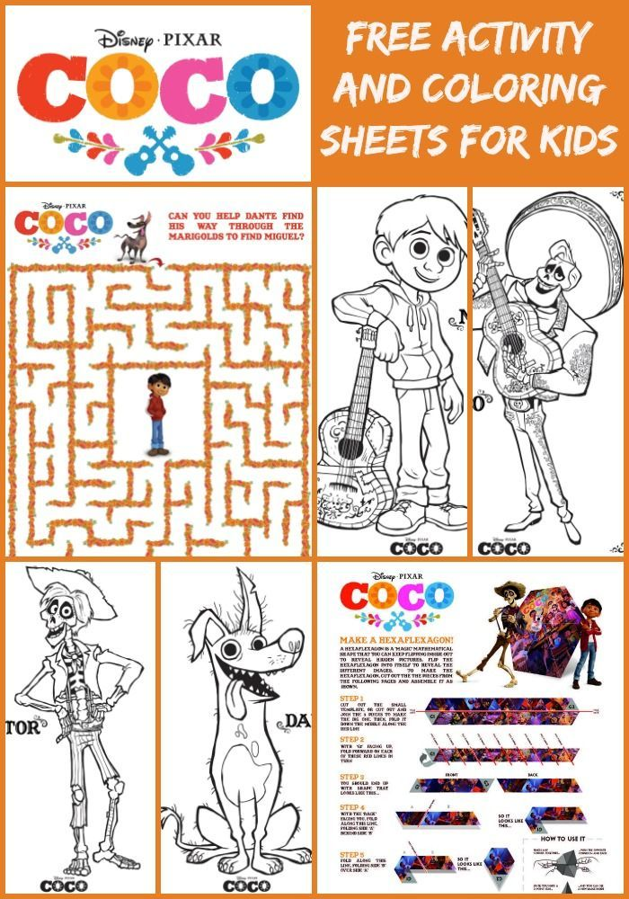 Coco activity sheets and more fun disney coloring pages, peace and love coloring pages