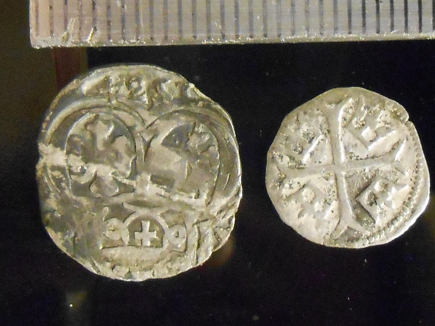 Knights Templar Crusader Cross-Large Silver Plate and Enamel Coin