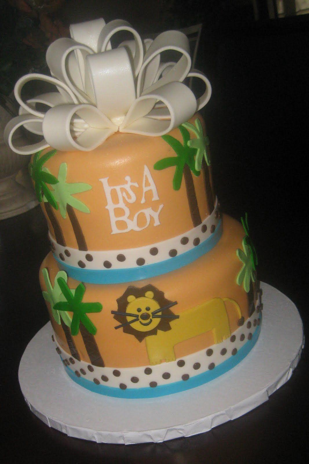 Jungle Theme Baby Shower Cakes Your Fondant Cake Design