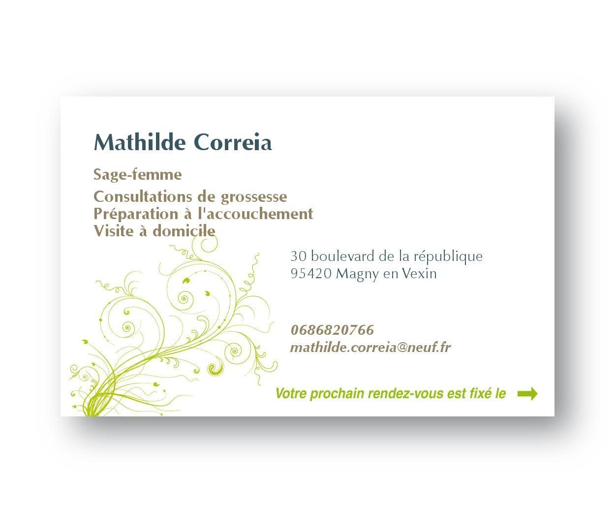 Préférence Cartes de visite fond feuilles | Sage femme | Pinterest | Carte de  NC83