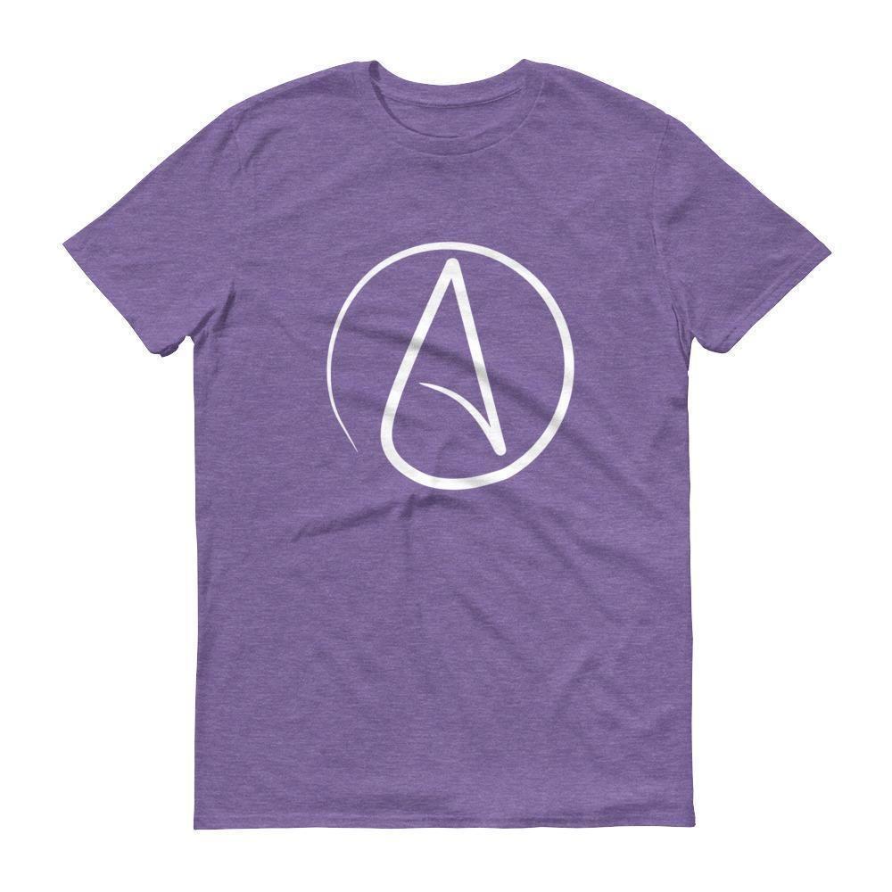 Mens atheist symbol tshirt atheist symbol heather grey and mens atheist symbol t shirt biocorpaavc Choice Image