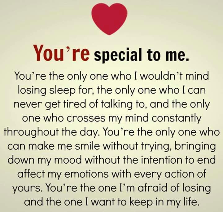 Youre Special To Me Quotes Love Quotes Real Relationship