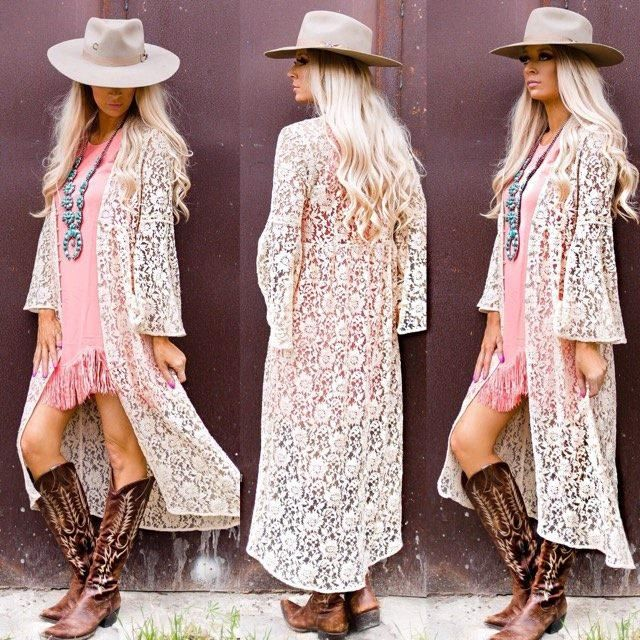 Oat Lace Button Duster
