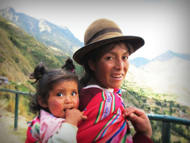 Inca Mother and Child by Tina Doepker