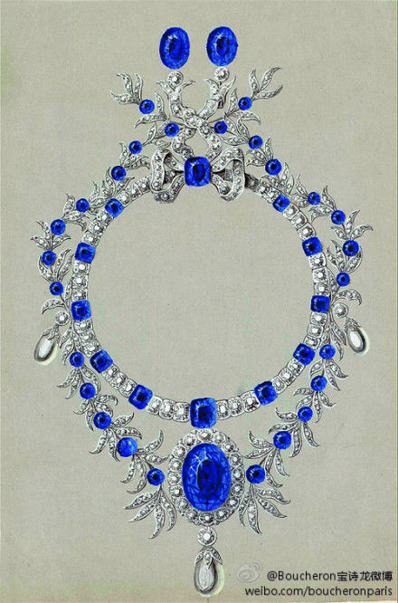 1878 Marie Louise MacKay necklace | Boucheron Jewelry ...