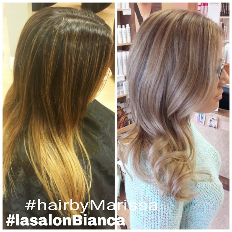 Before And After Blonde Coolblonde No More Brassy Highlight