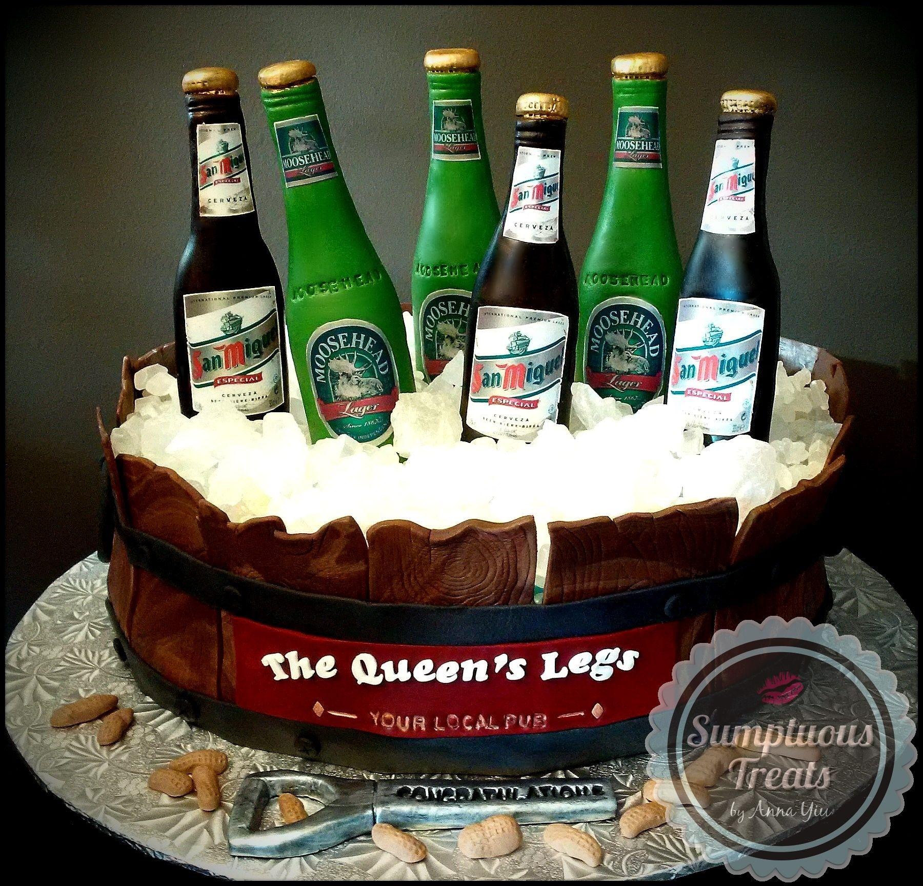 Beer Bucket Cake CustomMadeToOrder Cakes Desserts Edible Art