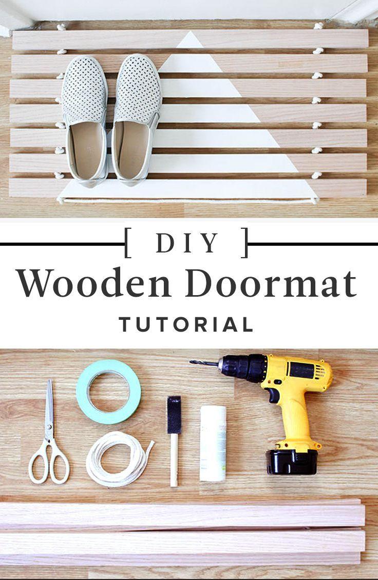 How to Make Your Own Wood Door Mat | Wood doors, Door mats and Minimal
