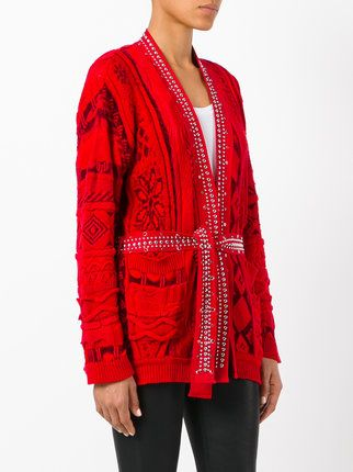 Knit Intarsia But Cardigan Laneus Embellished Expensive Nice gwvqzPx