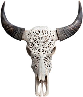 Bali Carved Cow Skull Reliefcarvingmodern Cow Skull Cow Skull Art Skull Carving