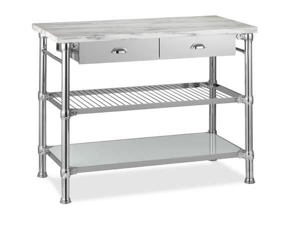 Modular Kitchen Island Polished Nickel In 2021 New Kitchen Cabinets Kitchen Furniture Kitchen Decor