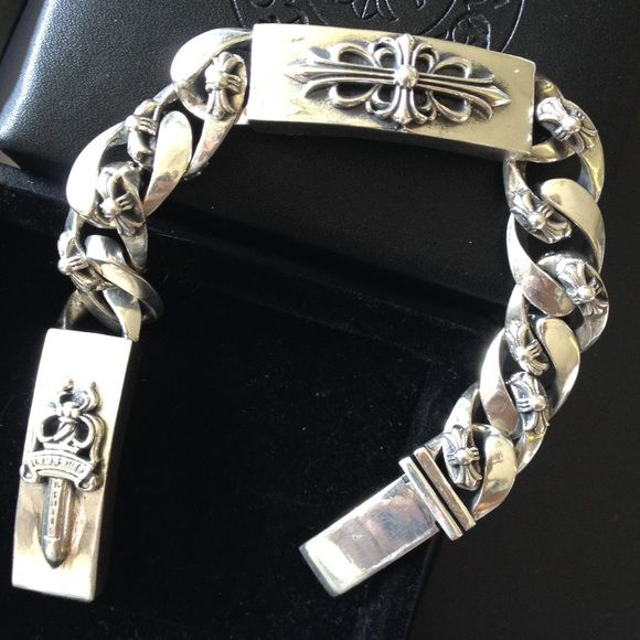 Chrome Hearts Inspired 925 Silver Bracelet Brand New Chrome Hearts
