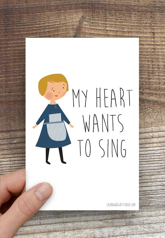 Sound of music greeting cards single sound of music my heart greeting cards single sound of music my heart illustration m4hsunfo