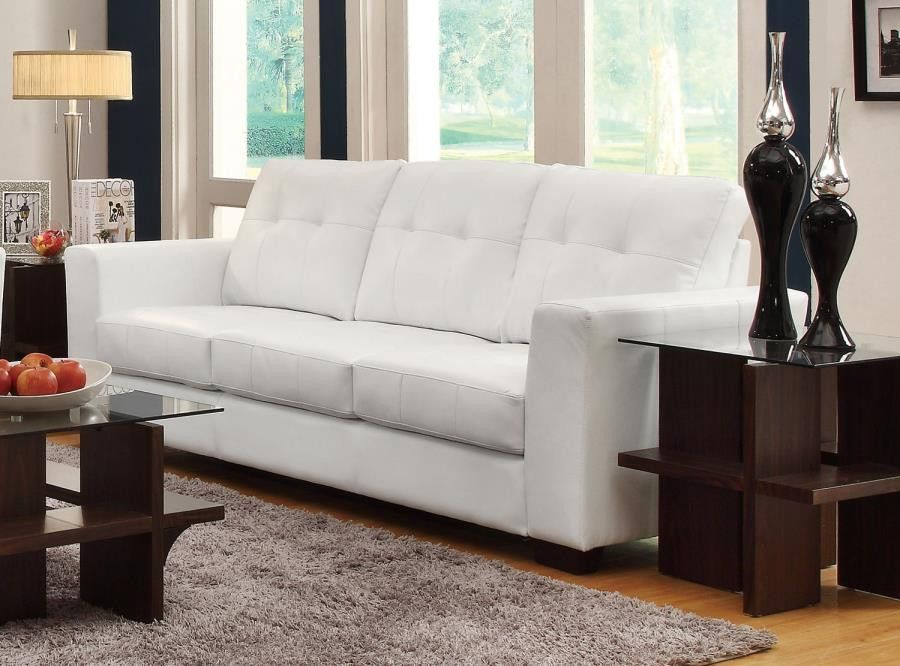 enright white sofa with loose tufted back cushions track arms rh pinterest com
