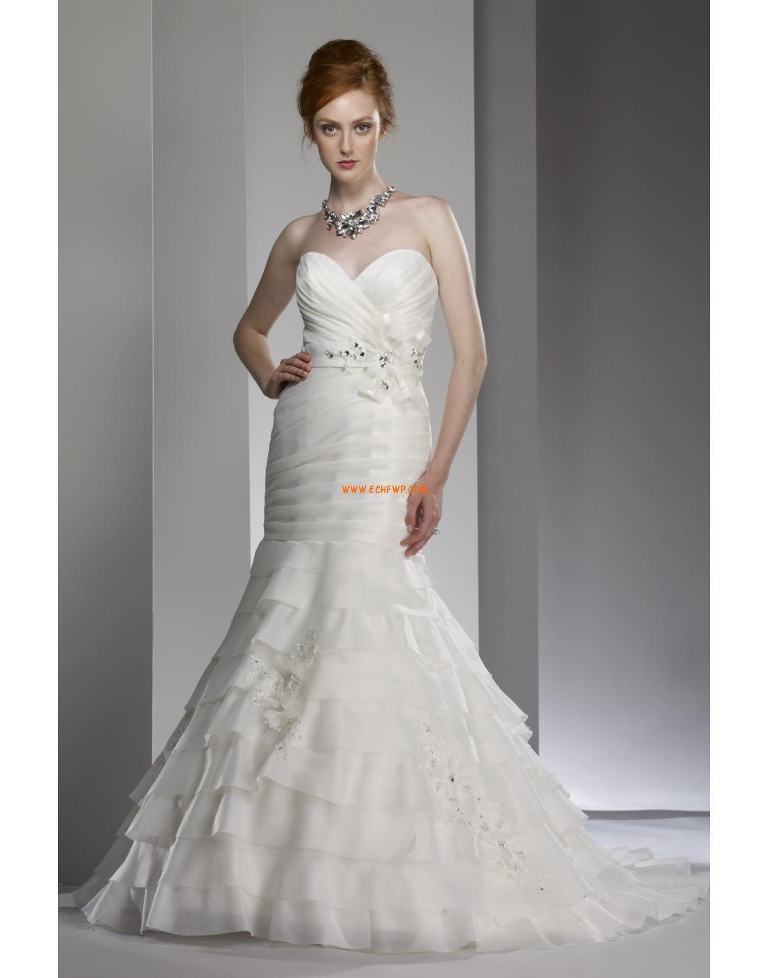 Herz-Ausschnitt Tülle 3/4 Arm Brautkleider 2014 | Billig ...