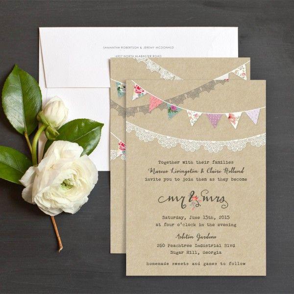 Festival Bunting Wedding Invitations by Emily Crawford | Elli